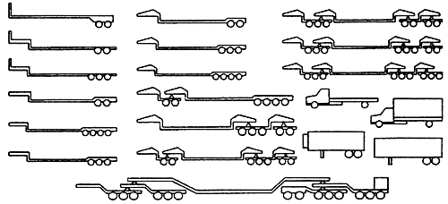 Line Drawings of Modular Trailers